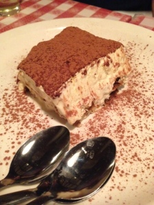 Tiramisu at Pasta Mia